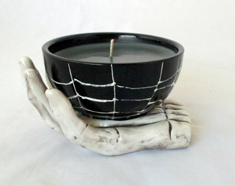 Black Magic candle, soy candle, unique candle, decorative candle, scented soy candle, soy wax candle, halloween candle, skeleton candle