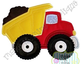 Applique Embroidery Construction Dump Truck Machine Applique Design