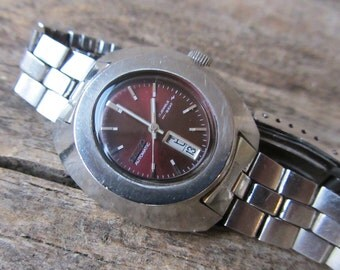 Vintage women's watch Seiko-17jewels,Automatic wrist watch,Ladies wrist watch,Japanese watch,Retro watch,Working,Water resistant,Stainless