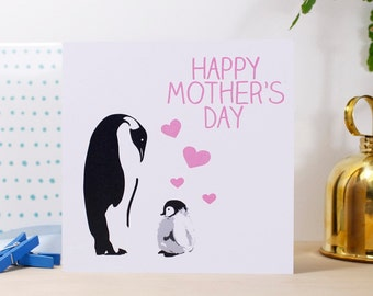 Happy Mothers Day Penguin Card