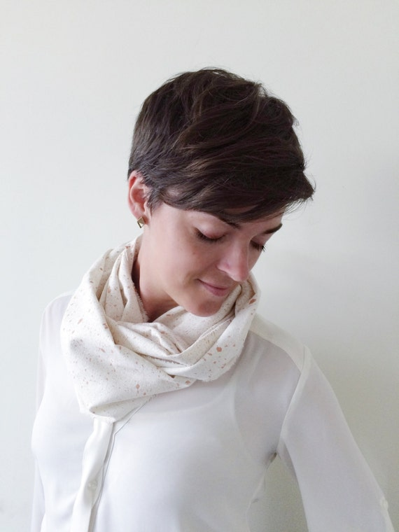 Rose Gold Scarf-Rose Gold Items-Rose Gold Infinity Scarf-Rose Gold Pieces-Scarves for Winter-Scarves for Fall-Silk Scarves-Scarves-Fall