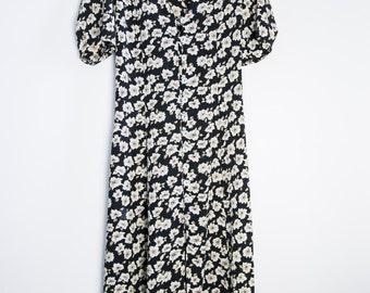 Vintage floral dress - maxi