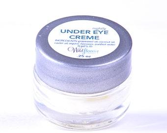 Under Eye Creme - 100% Natural - Reduces puffiness, fine lines & dark circles