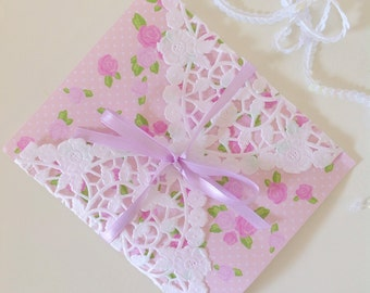 8x8 French Lace Square Paper Doilies Doily