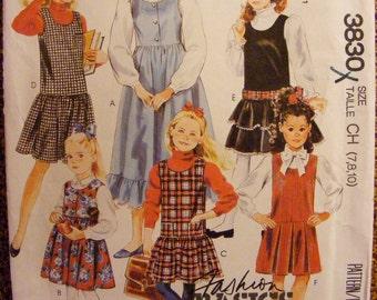 Uncut McCall's SewingPattern 3830 Girls' Jumper Size 7 8 10