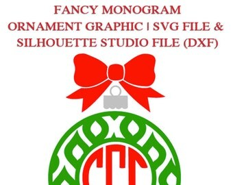 Fancy  Monogram Ornament Frame File for Cutting Machines   SVG and Silhouette Studio (DXF)