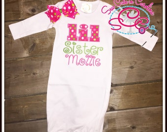 Personalized Lil Sister Gown
