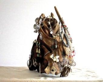 Driftwood Jewelry Organizer, Earring Tree, Earring Hanger, Hanger, Jewelry Rack, Jewelry Display, Driftwood Decor
