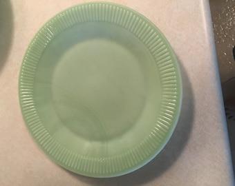 Vintage Jadite Jane Ray Dinner Plates