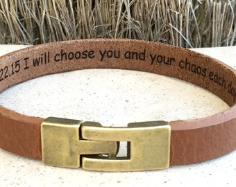 FREE SHIPPING-Men Engraved Bracelet,Personalized Men Bracelet,Custom Men Bracelet,Men Leather Bracelet,Unisex Personalized Bracelet,