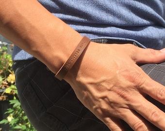 FREE SHIPPING-Engraved Leather Bracelet,Bracelets For Men, Men Bracelet,Men Leather Bracelet,Personalized Bracelet,Custom Leather Bracelet