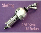 GRB Sterling Silver Bell - Gordon R Barnett - Fuchsia Flower Limited Edition Bell Pendant - FREE SHIPPING