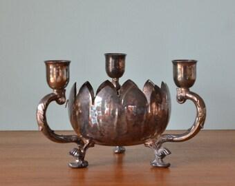 Vintage Candelabras candlestick holder posy Viners EPNS