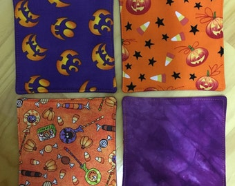 Halloween Reversible Quilted Coasters Set