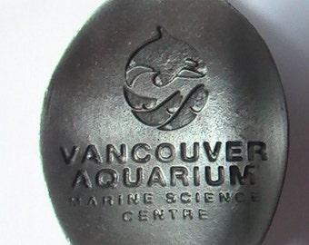 Vintage Vancouver Aquarium Pewter Souvenir Spoon, Vancouver BC, Canadian Souvenir Spoon, Vintage Souvenir Spoon, Collectible Souvenir Spoon