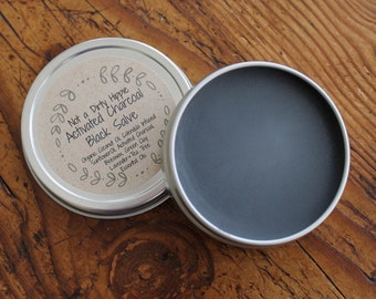 Black Drawing Salve, Activated Charcoal Salve, Black Salve, Amish Salve, Charcoal Ointment, Herbal Remedy, Natural Drawing Ointment