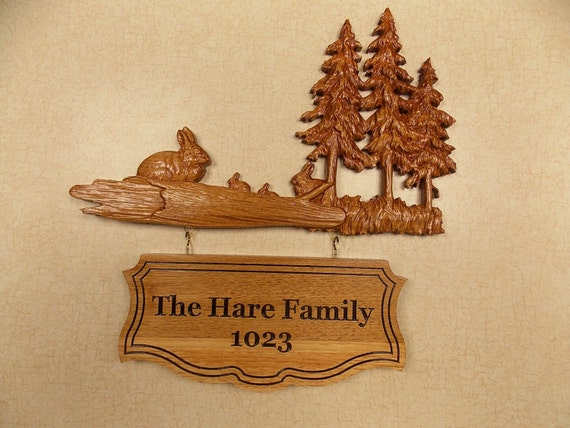 Personalized Wood Wall Decor : Custom wooden signs family name sign wood wall art