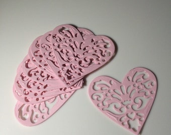 Die Cut Hearts!! Embellishments.