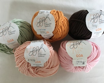 GGH Goa - Bulky weight Cotton/Acrylic blend yarn - 5 colors available