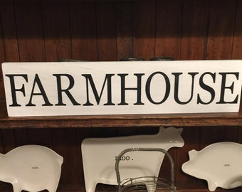 Farmhouse sign rustic distressed wood sign