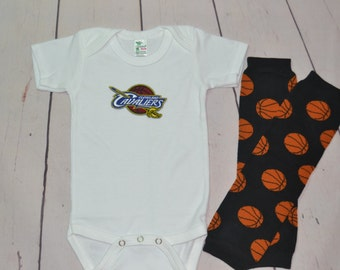 Boys Cleveland Cavaliers Onesie and Legwarmers set! Baby Boy Basketball Set