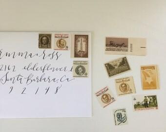 Unused vintage postage stamp set - Brown Hues #3 - 11 stamps