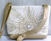 Gold Metallic Crossbody Purse, Silver Evening Bag Metallic Handbag Crossbody, Gold Evening Purse, Elegant Fashion Handbag Metallic Sling Bag