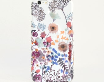 Watercolor phone case Floral Watercolor iPhone 7 plus designer iPhone case Sunset Meadow Samsung G S7 Watercolor Samsung Galaxy S6 IPhone 7