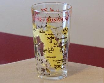 Vintage Souvenir Florida Glass