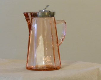 Heisey McGrady #372 Vintage Flamingo Maple Syrup Pitcher