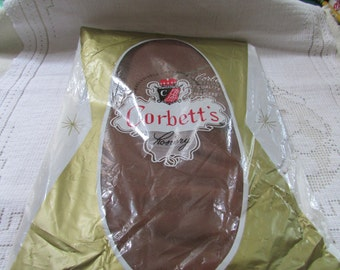 1 pair NOS 60's vintage seamless Corbett's brand stretch nylon stockings NOS size tall
