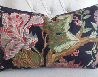 Floral  12x20 pillow cover, accent pillow, decorative pillow,throw pillow, same fabric on front and back.