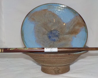 Blue Lotus Rice Bowl Pair