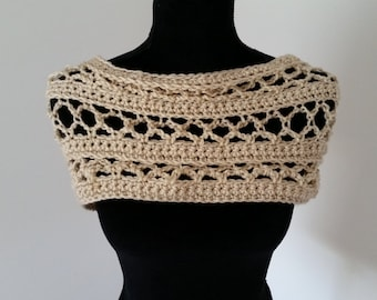 Shawl - Shrug, Infinity Cowl Scarf, Circle Scarf, Crochet Scarf, Chunky Scarf, Gift for Her