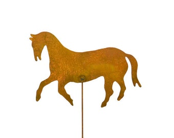 Horse Decorative Metal Garden Stake, Whimsical Yard Art! GS44