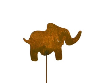 Elephant Metal Garden Stake, Yard Art GS9