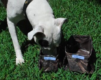 Portable Packable Collapsible Pet Dish Water Bowl Btown Black Camo