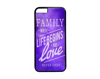 Family Love Quote Design Case Cover for iPhone 4 4s 5 5s  5C 6 6s 6 Plus 7 7 Plus iPod Touch 4 5 6 case Cover