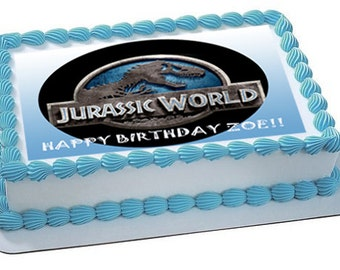 JURASSIC WORLD edible cake toppers, jurassic world edible cupcake toppers, jurassic world edible cookie toppers, jurassic world party favors