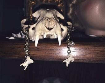 Medeina - Vertebrae Bones Earrings - Bone Jewelry