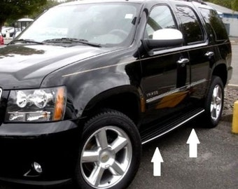 Chrome Running Board Trim Molding For Chevy Tahoe Suburban 2007-2014