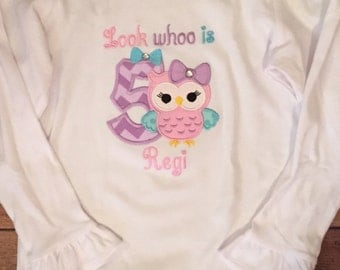 Look Whoo Is Owl Baby Bodysuit or Shirt