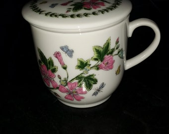 Andrea by Sadek Porcelain Tea Cup with Infuser
