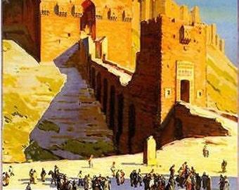 Vintage Aleppo Syria Travel Poster A3/A2/A1 Print