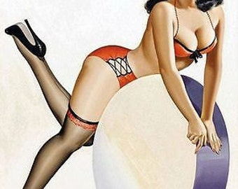 Vintage 1950's Pin Up Poster 28 A3/A2 Print