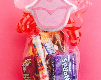 Lips Party - Lips Candy - Lips Necklace - Lips Bachelorette - Bachelorette Party - Bachelorette Party Idea - Lips Party Favor Bag Tag
