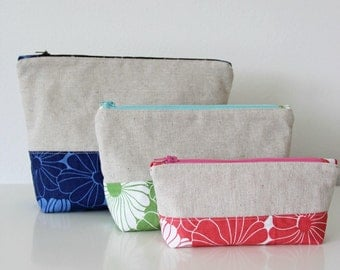 Color Block Pouches Pattern by Vanessa Christensen of V and Co. for Moda