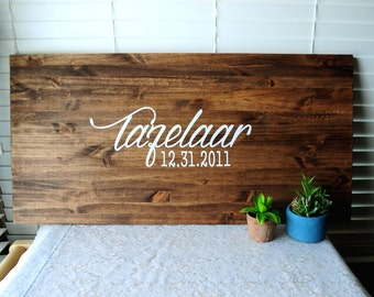 Large Guest Book Sign Personalized Wooden Custom Guest Book Signature Sign Rustic Wedding Guest Book Alternative Wedding Signage