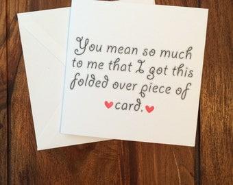 Valentines Day Card, Funny Card, Love Card, Anniversary Card, Valentine's Day Card, Love You card, Birthday Card, Happy Birthday Card