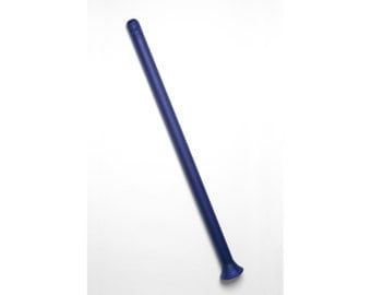 Handmade Glass Didgeridoo - E(432Hz) - Cobalt Blue Sandcarved
